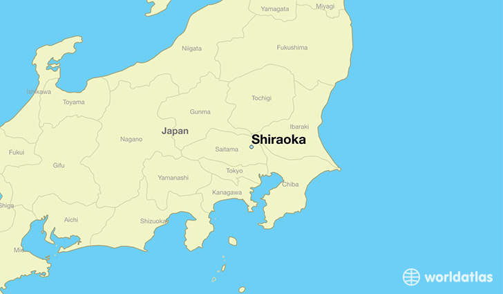 map showing the location of Shiraoka