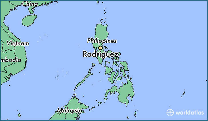 map showing the location of Rodriguez