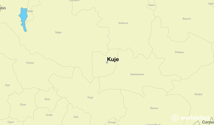 map showing the location of Kuje