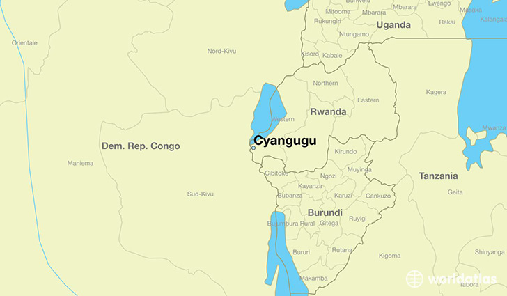 map showing the location of Cyangugu