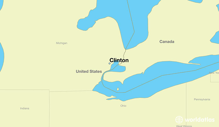 map showing the location of Clinton