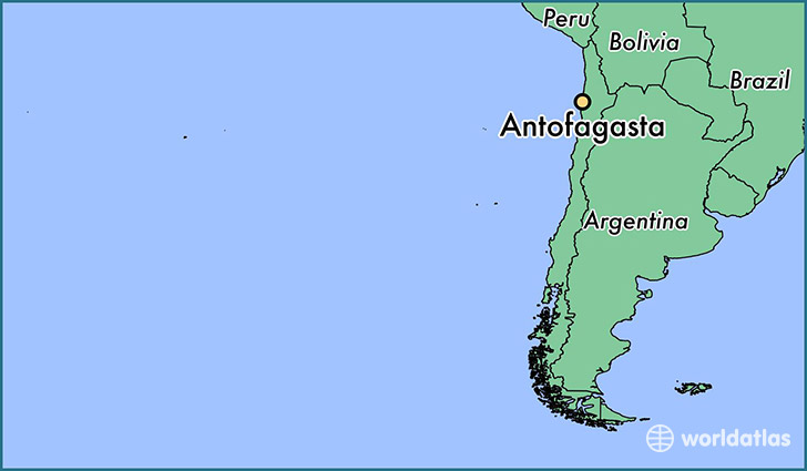 map showing the location of Antofagasta