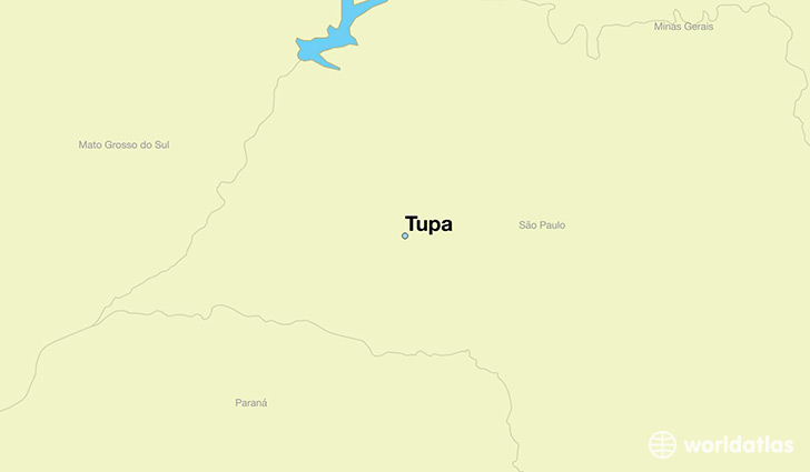 map showing the location of Tupa