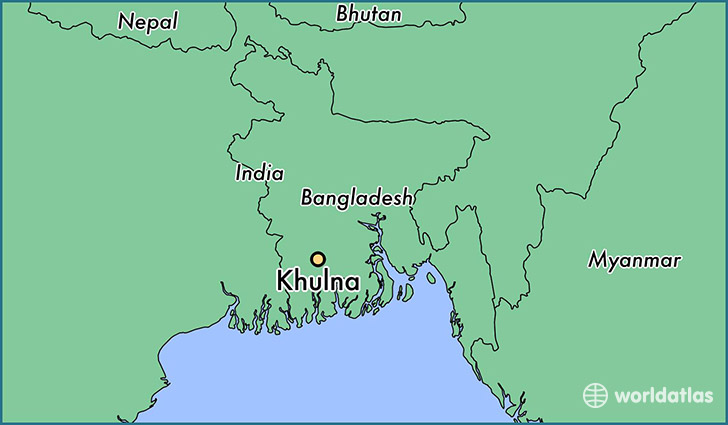 map showing the location of Khulna