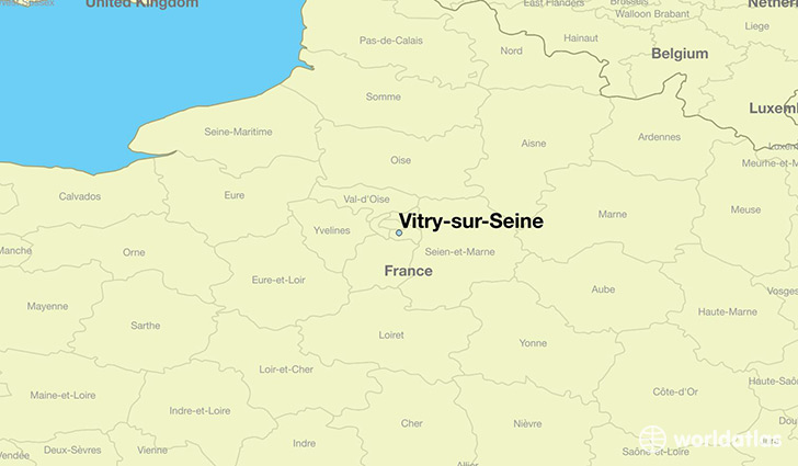 map showing the location of Vitry-sur-Seine