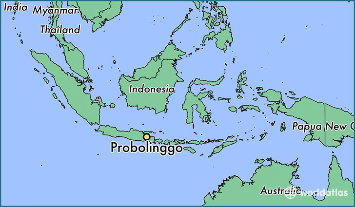 map showing the location of Probolinggo