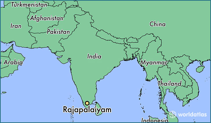 map showing the location of Rajapalaiyam