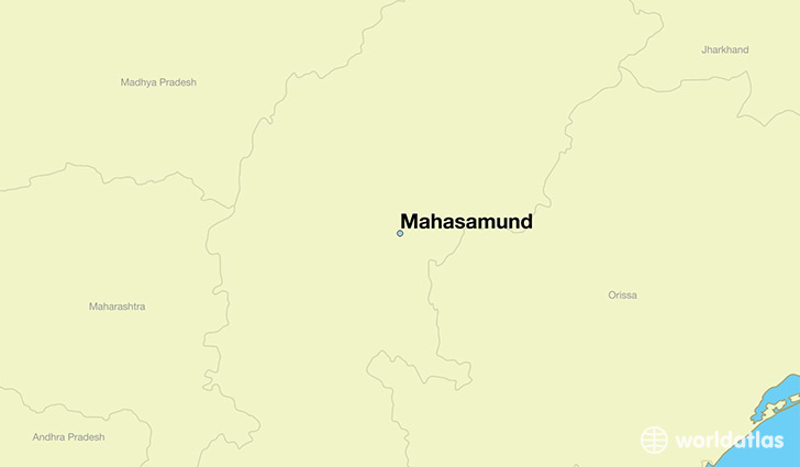 map showing the location of Mahasamund