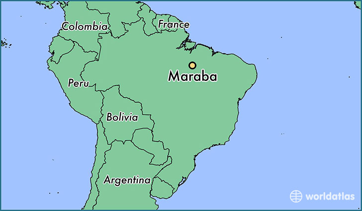 map showing the location of Maraba
