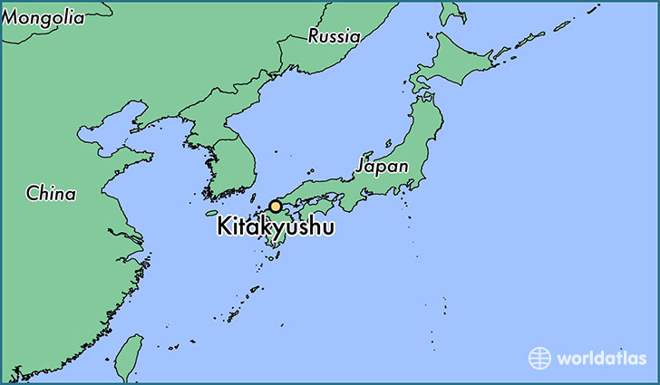 map showing the location of Kitakyushu