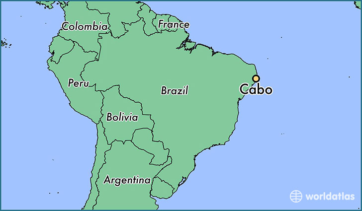 map showing the location of Cabo