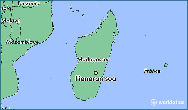 map showing the location of Fianarantsoa