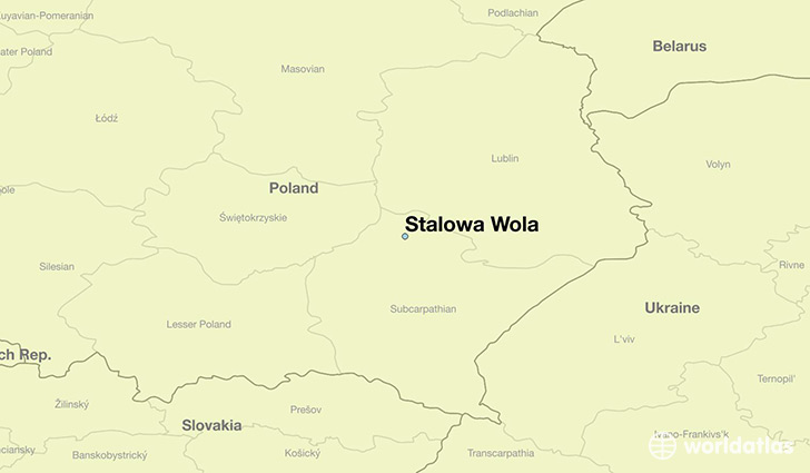 map showing the location of Stalowa Wola