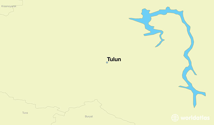 map showing the location of Tulun