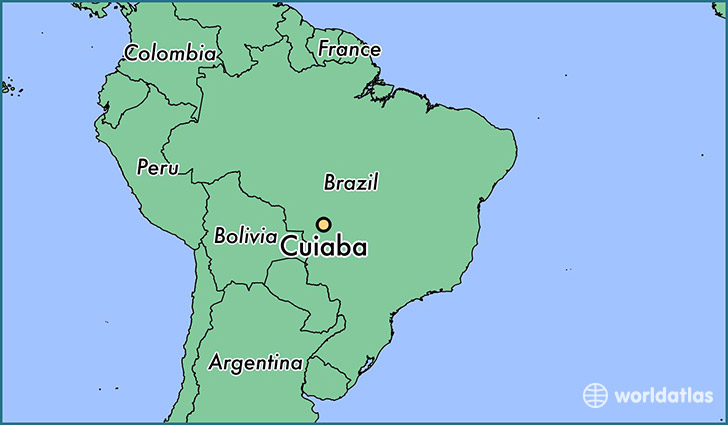 map showing the location of Cuiaba