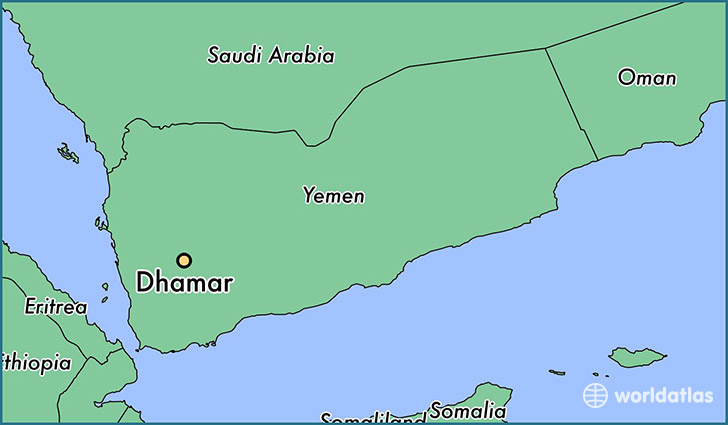 map showing the location of Dhamar