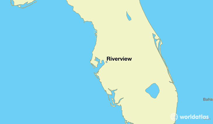 map showing the location of Riverview