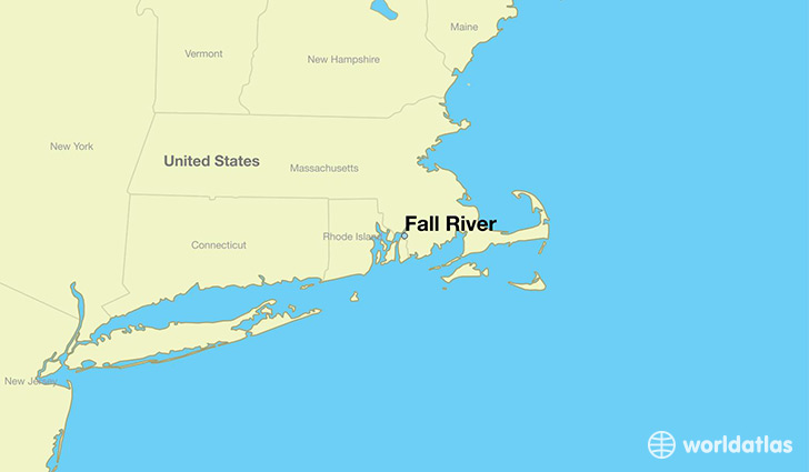 map showing the location of Fall River