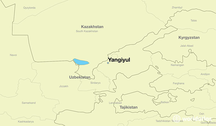 map showing the location of Yangiyul