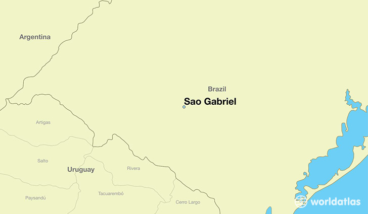 map showing the location of Sao Gabriel