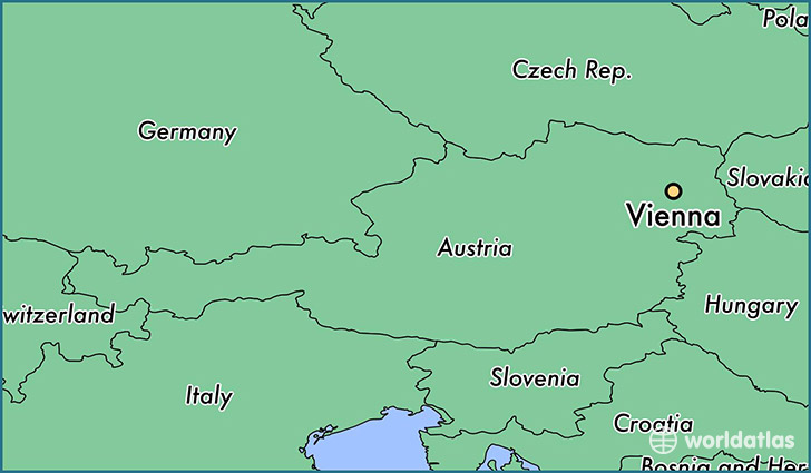 Where Is Vienna Austria Where Is Vienna Austria Located In - Vienna austria on world map