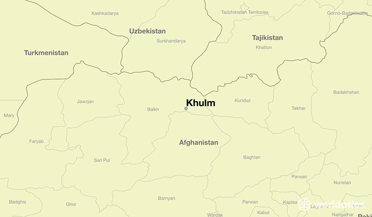 map showing the location of Khulm