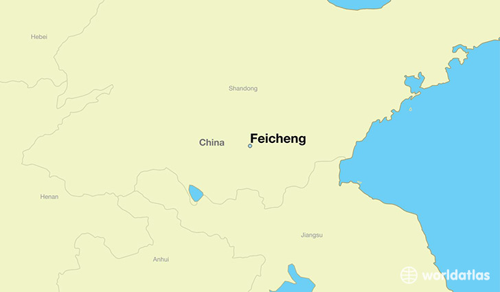 map showing the location of Feicheng