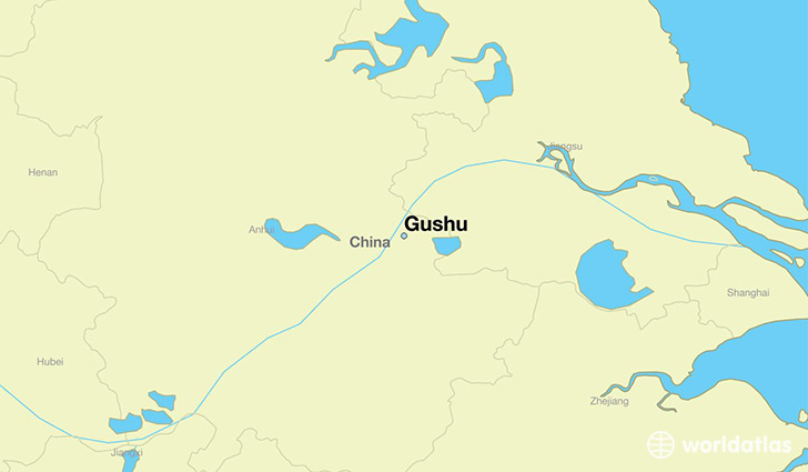 map showing the location of Gushu