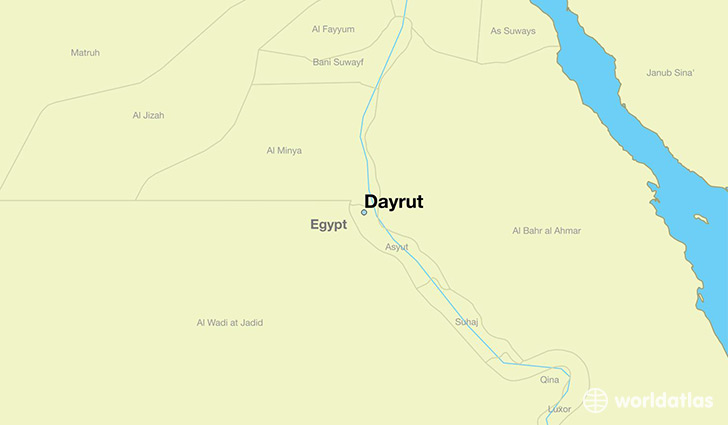 map showing the location of Dayrut