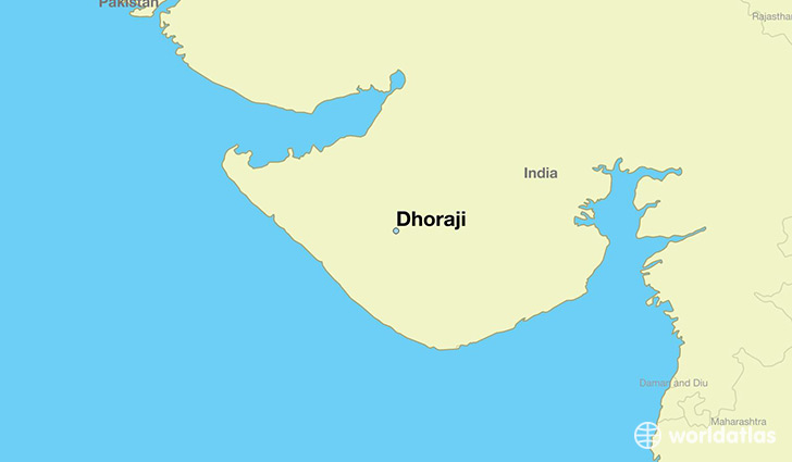 map showing the location of Dhoraji