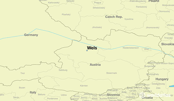 Where is Wels Austria Wels Upper Austria Map WorldAtlascom