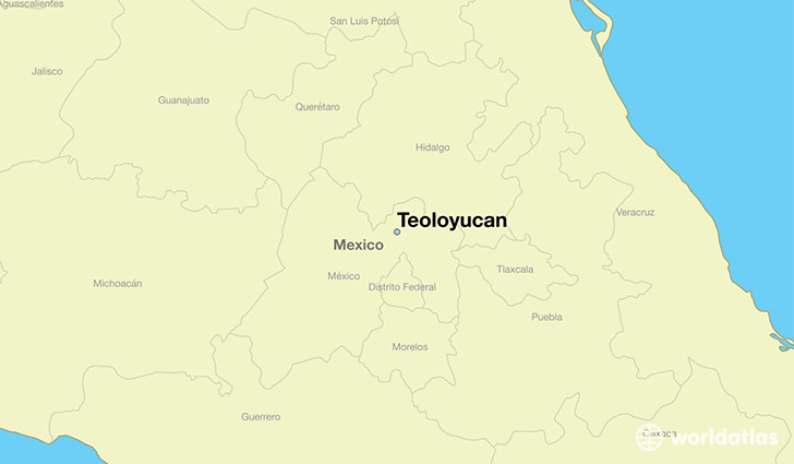 map showing the location of Teoloyucan