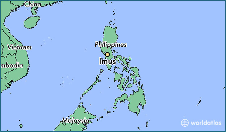 map showing the location of Imus