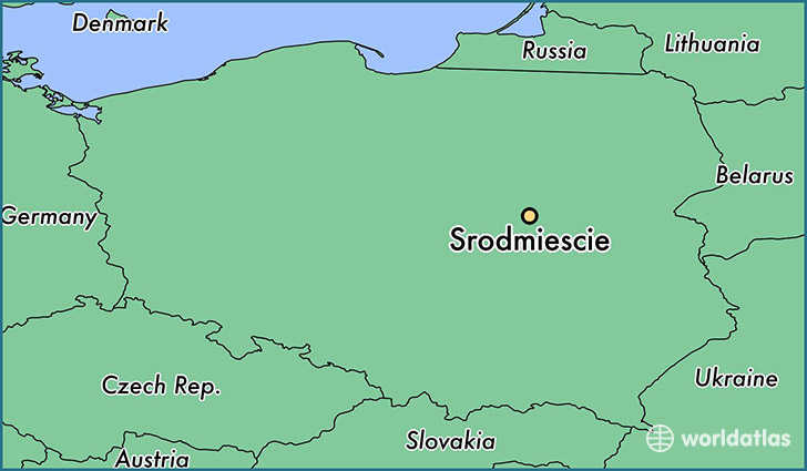 map showing the location of Srodmiescie