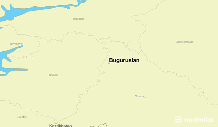 map showing the location of Buguruslan