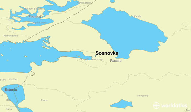 map showing the location of Sosnovka