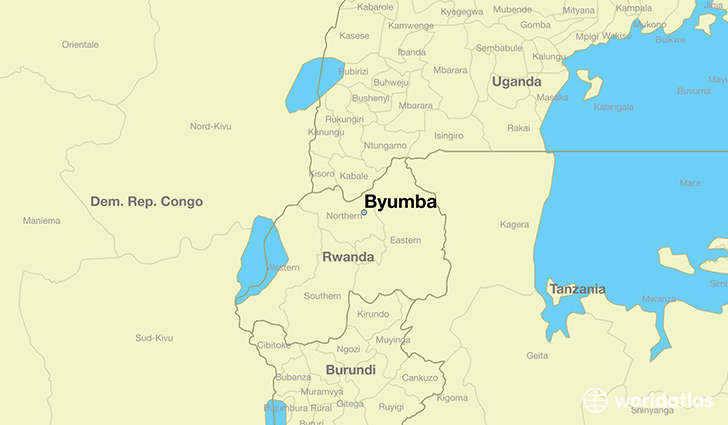 Where is byumba rwanda byumba northern province map map showing the location of byumba gumiabroncs Images