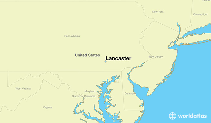 map showing the location of Lancaster
