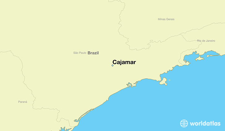 map showing the location of Cajamar