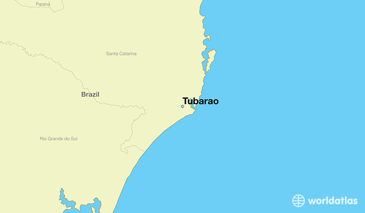 Where is Tubarao Brazil Tubarao Santa Catarina Map WorldAtlascom
