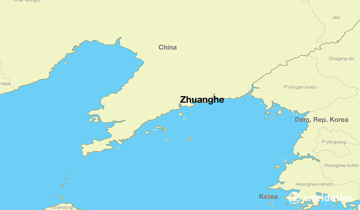 map showing the location of Zhuanghe