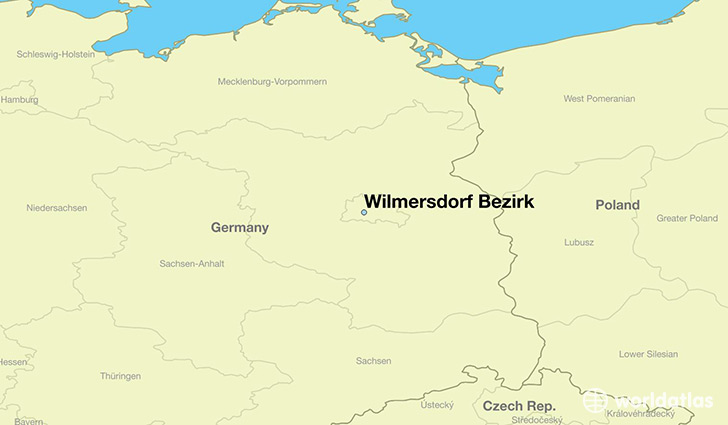 map showing the location of Wilmersdorf Bezirk