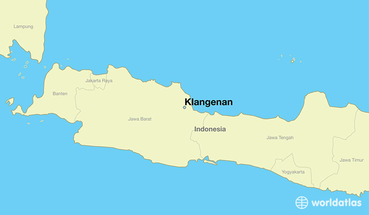 map showing the location of Klangenan