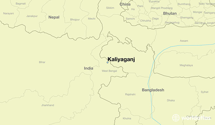 map showing the location of Kaliyaganj