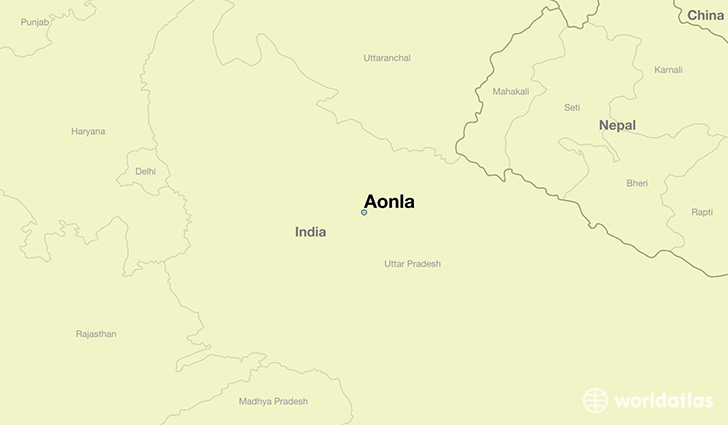 map showing the location of Aonla