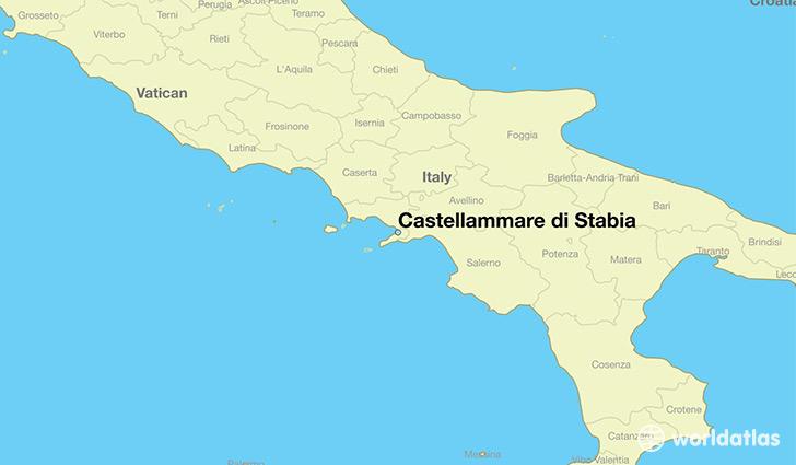 map showing the location of Castellammare di Stabia