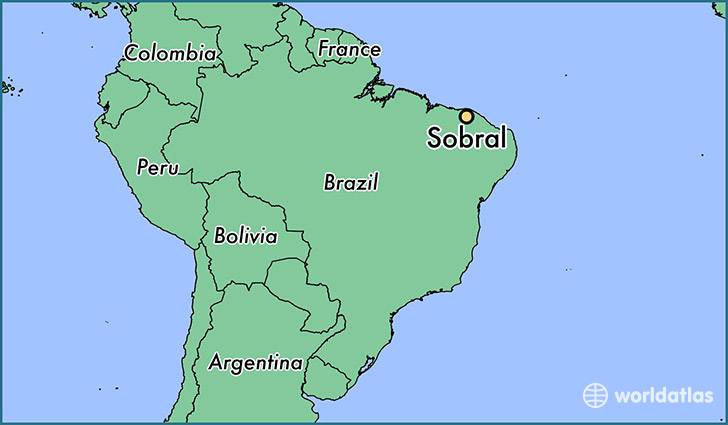 map showing the location of Sobral