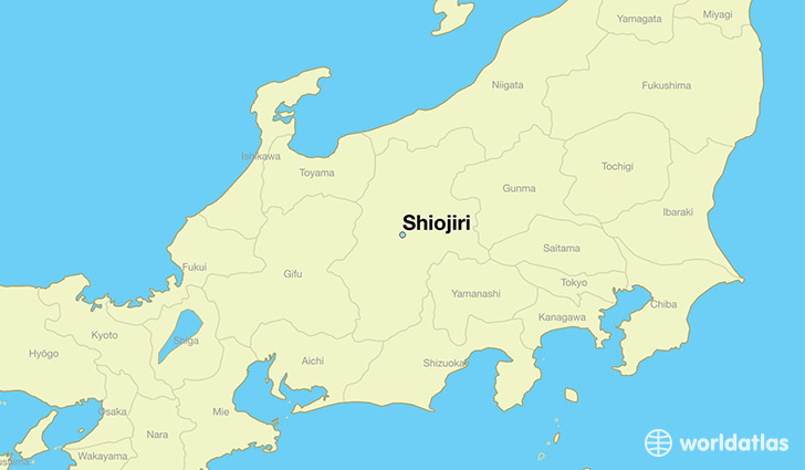 map showing the location of Shiojiri