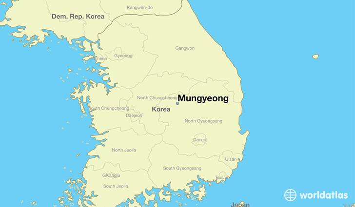 map showing the location of Mungyeong