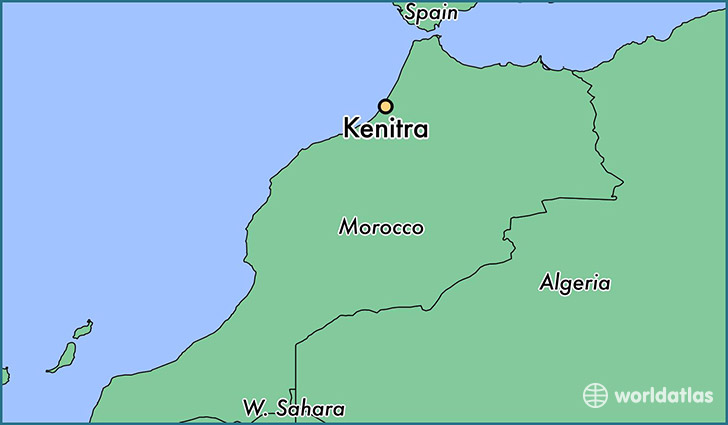 map showing the location of Kenitra